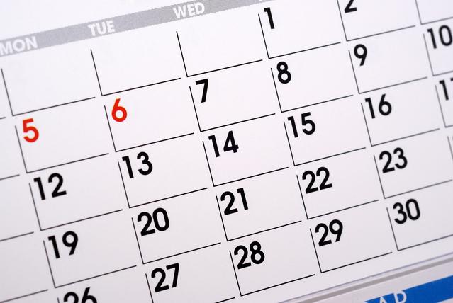 カレンダーに浮気の証拠?(イメージ)